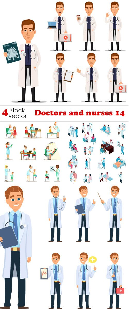 Vectors - Doctors and nurses 14