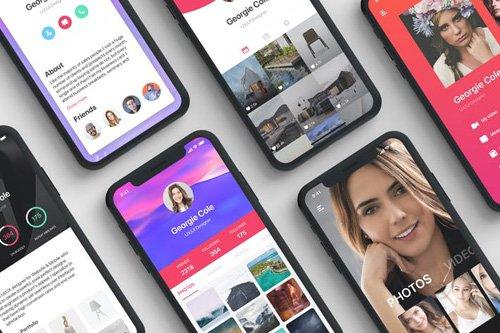 Profile Mobile UI Concept - Part 01