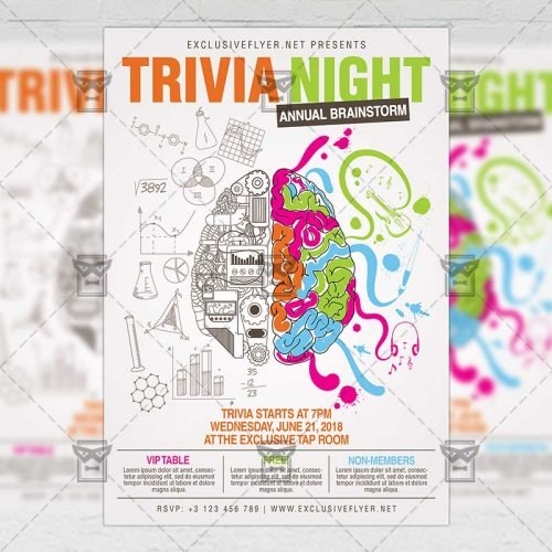 Community A5 Flyer Template - Trivia Night