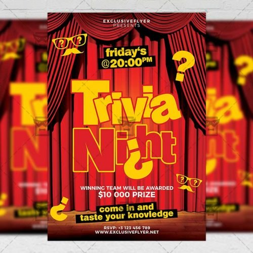 Community A5 Template - Trivia Night Flyer