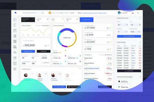 Admin Dashboard Cryptocurrency Bank Ui Kit