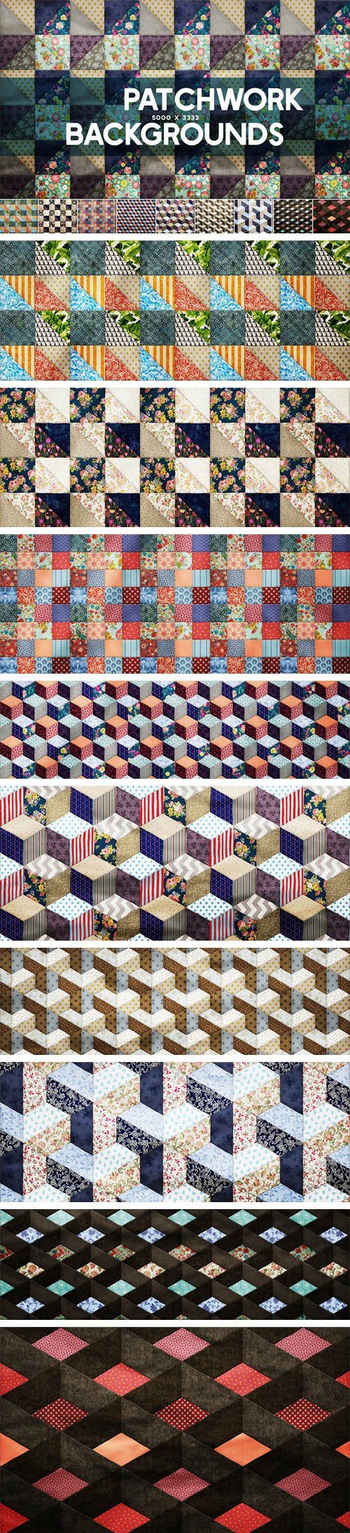 10 Patchwork Backgrounds