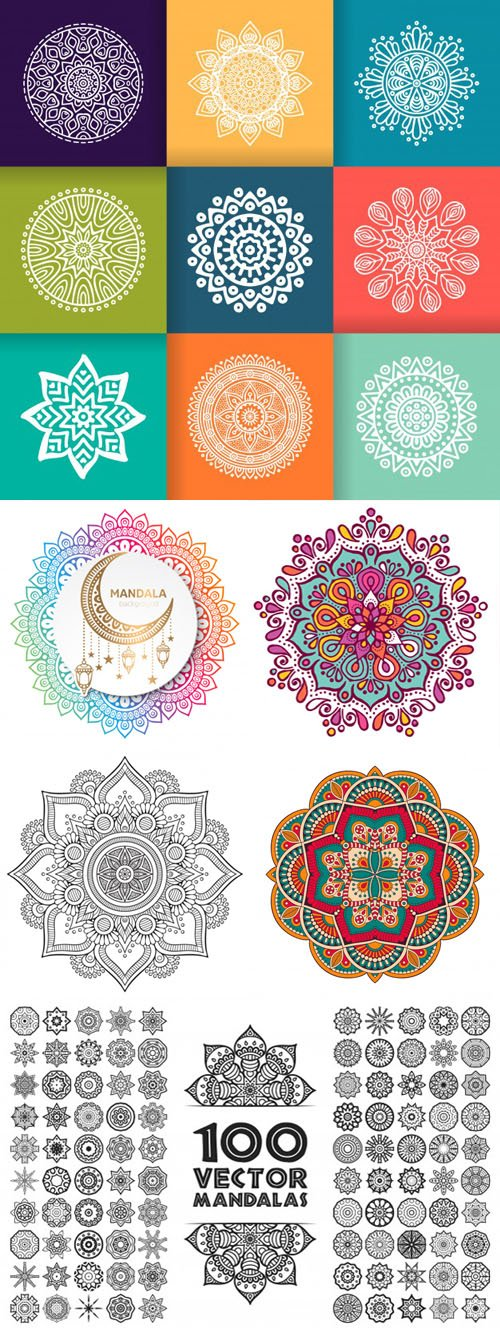 Collection of Mandala Templates in Vector [EPS]