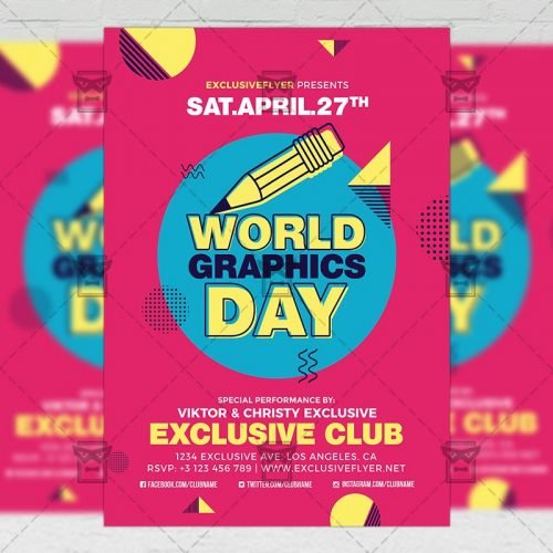 Community A5 Flyer Template - World Graphics Day