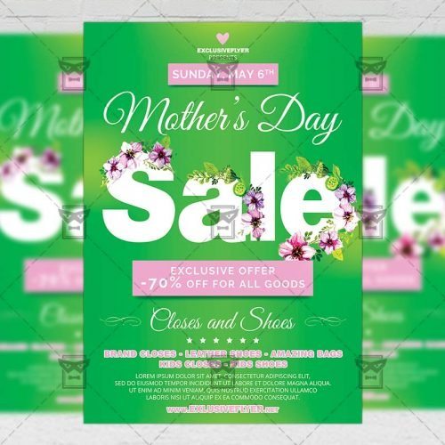 Seasonal A5 Flyer Template - Mom Day Sale