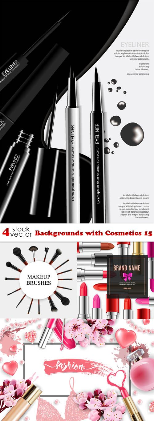 Vectors - Backgrounds with Cosmetics 15