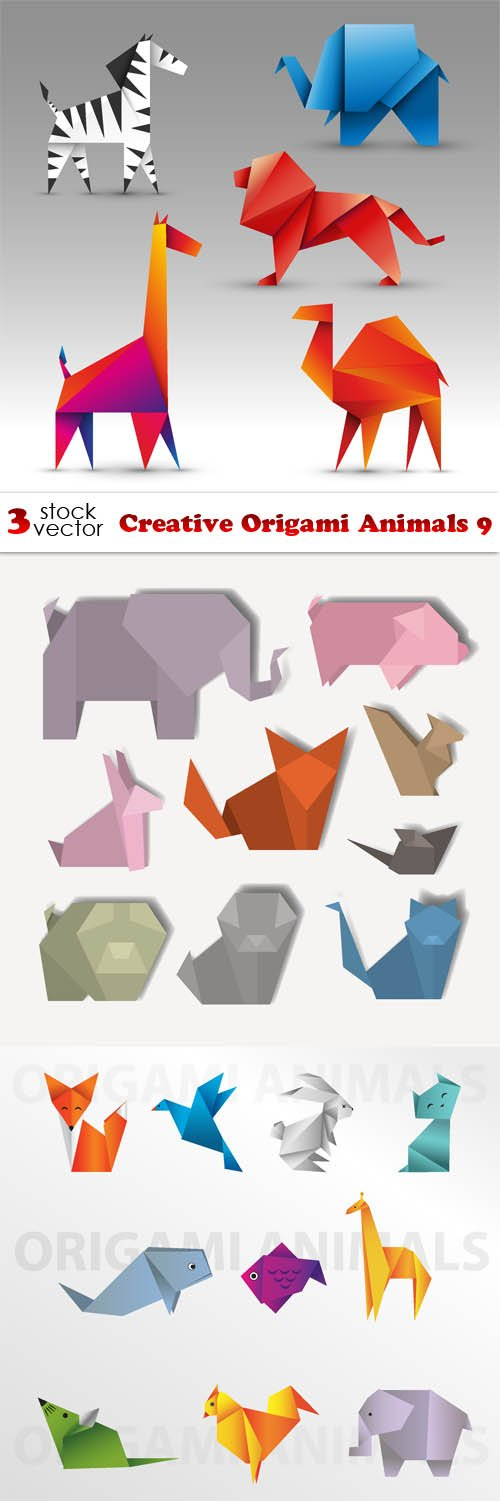 Vectors - Creative Origami Animals 9