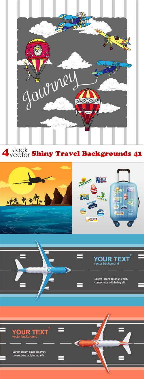 Vectors - Shiny Travel Backgrounds 41