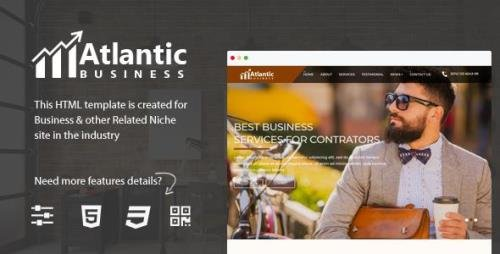 ThemeForest - Atlantic v1.0 - One Page Business HTML5 Bootstrap 4 Template - 20975397