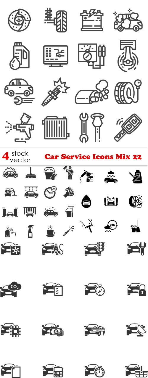 Vectors - Car Service Icons Mix 22