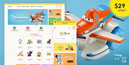 ThemeForest - Kid Toys - Opencart 3 Multi-Purpose Responsive Theme (Update: 23 December 17) - 20626562