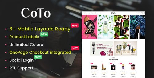 ThemeForest - Coto v1.0.0 - Beauty & Spa Store OpenCart 2.3 Theme - 19830953