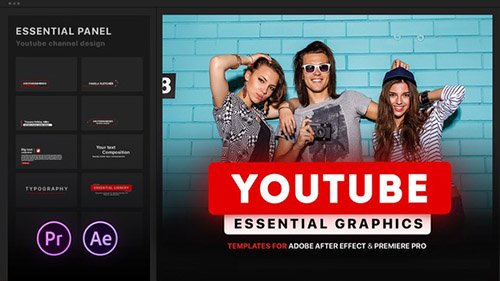 Youtube Essential Library - Project for After Effects (Videohive)