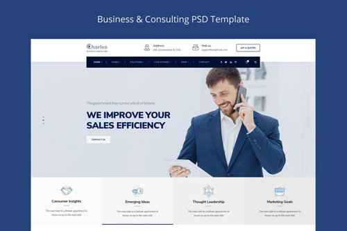 Charles - Business-Consulting PSD Template