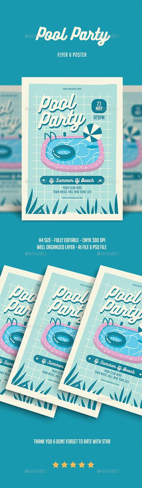 GR - Pool Party Flyer 22011745