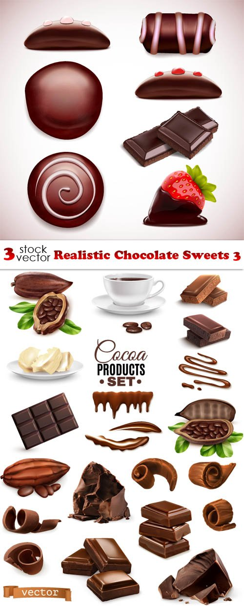 Vectors - Realistic Chocolate Sweets 3