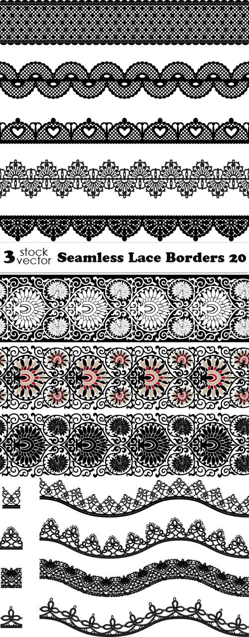Vectors - Seamless Lace Borders 20