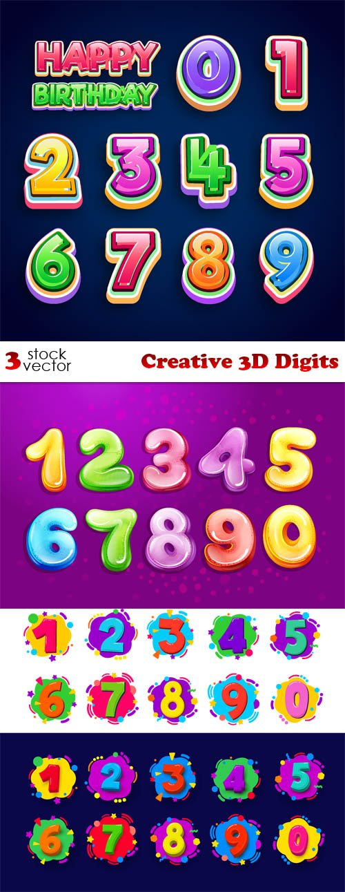 Vectors - Creative 3D Digits