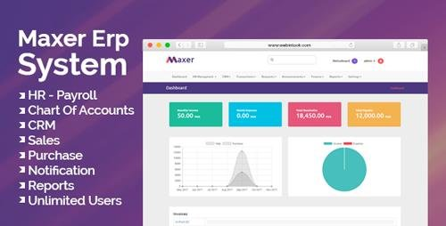 CodeCanyon - Maxer Erp System v1.0 - HR, Finance, Sales, Purchase, CRM, Email Notifications - 21548172