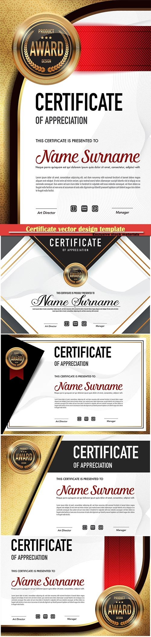 Certificate and vector diploma design template # 72