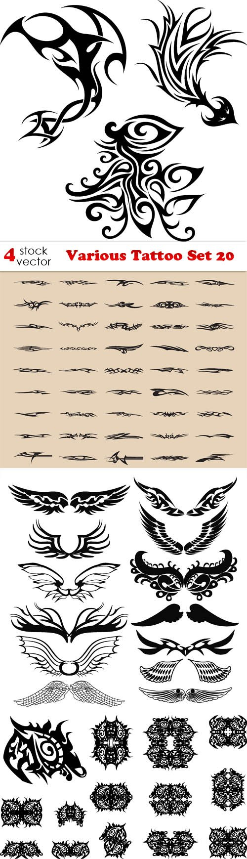 Vectors - Various Tattoo Set 20