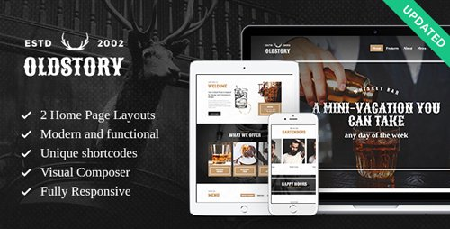 ThemeForest - OldStory v1.7 - Whisky Bar | Pub | Restaurant WordPress Theme - 15218043