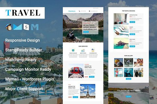 Travel - Responsive Email Template - CM 2126664