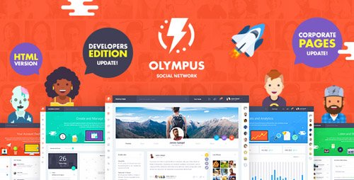ThemeForest - Olympus - HTML Social Network Toolkit (Update: 30 April 18) - 19755363