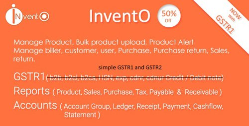 CodeCanyon - InventO v2.4 - Accounting | Billing | Inventory (GST Compliance with GSTR1 & GSTR2 Integrated) - 20233171