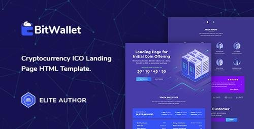 ThemeForest - BitWallet v1.0 - Cryptocurrency ICO Landing Page HTML Template - 21956208
