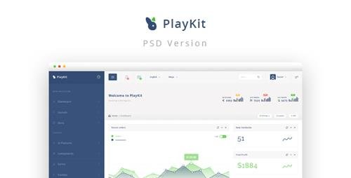 ThemeForest - PlayKit v1.0 - Web App PSD Template - 11955993