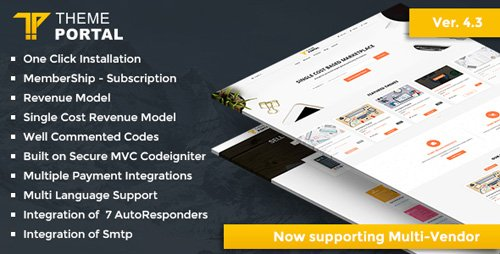 CodeCanyon - Theme Portal Marketplace v4.0 - Sell Digital Products ,Themes, Plugins ,Scripts - Multi Vendor - 16869890