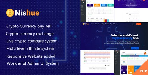 CodeCanyon - Nishue v1.3 - CryptoCurrency Buy Sell Exchange and Lending with MLM System | Live Crypto Compare - 21754644