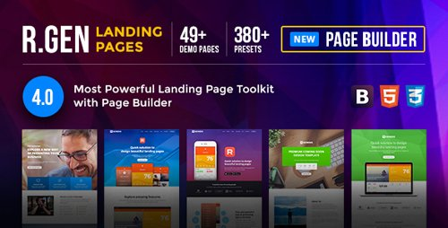 ThemeForest - RGen v4.0 - Landing Page with Page Builder - 13244840
