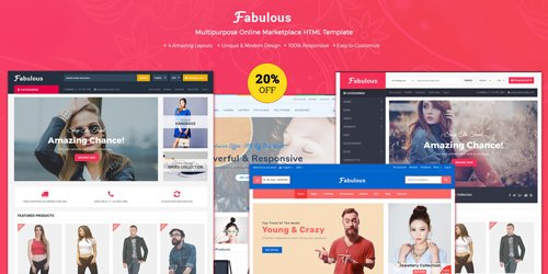 CodeSter - Fabulous v1.0 - Multipurpose eCommerce HTML Template - 7124