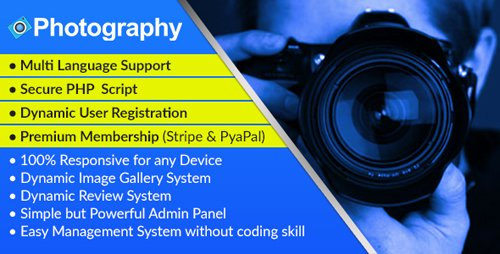 CodeCanyon - Photography v1.0 - Dynamic Photographer Management System and Directory Script - 20662347