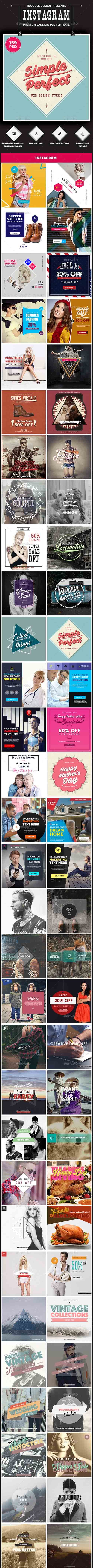 GR - Promotion Instagram Banners Ads - 159 PSD Bundle 13686890