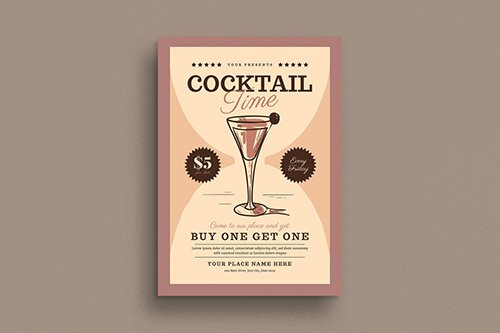 PSD Cocktail Time Flyer