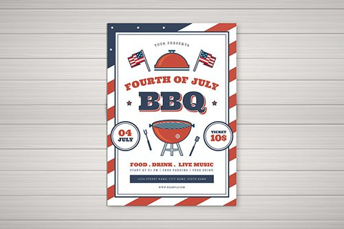 PSD 4th Of July BBQ Flyer 02