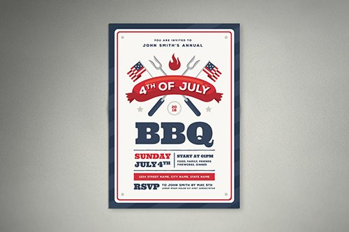 PSD 4th Of July BBQ Flyer 01