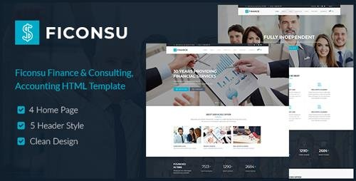 ThemeForest - Ficonsu v1.0 - Consultant Finance HTML Templates - 21956869