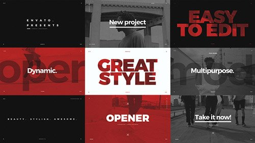 Modern Typo Opener - Project for After Effects (Videohive)