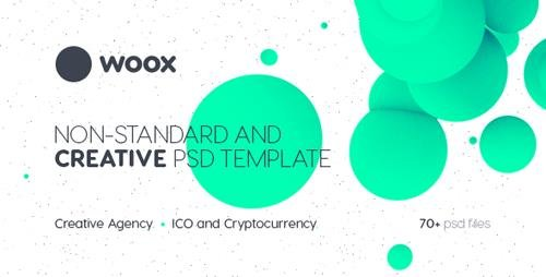 ThemeForest - Woox v1.0 - Non-Standard and Creative PSD Template for Digital Agency and ICO and Cryptocurrency Market - 22031449