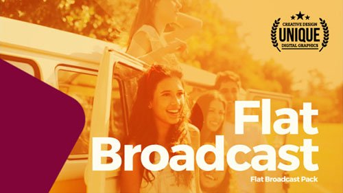 Flat Broadcast Pack - Project for After Effects (Videohive)