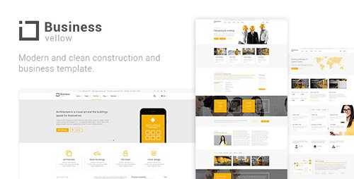 ThemeForest - Yellow Business v1.0 - Construction And Businesses - 21093503