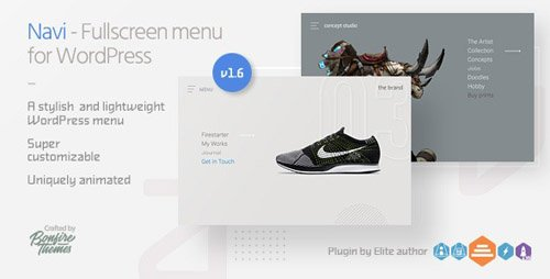 CodeCanyon - Navi v1.6 - Fullscreen WordPress Menu - 12253315