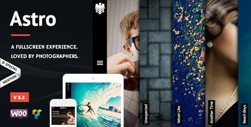 ThemeForest - Astro v5.3 - Photography WordPress Theme - 6364365 - NULLED