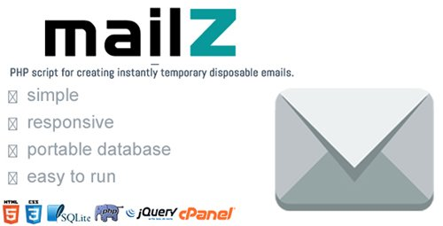 CodeCanyon - MailZ - Simple Disposable Temporary Email (Update: 5 May 18) - 21646056