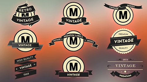 MA - Vintage Label Pack 87487