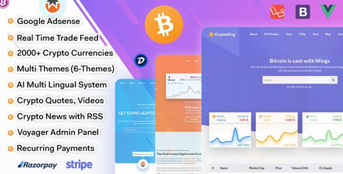 CodeCanyon - CryptoKing - Live Feed Crypto Currency Script (Update: 21 May 18) - 21801399